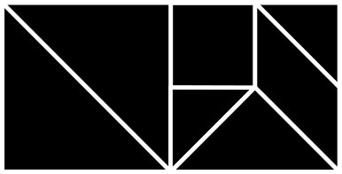 13 konvexních řešení Tangramu