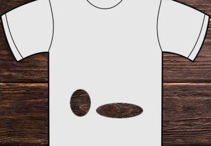 Obrázkový hlavolam Děravé tričko