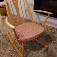 Windsor Rocking Chair Cushions Covers For Weddings Cheap Ercol Local Classifieds Preloved A Rare Limited Edition 2000 Swan Back Stamped Anno Domini In Excellent Condition And With The Original Cushion Numbered 1005
