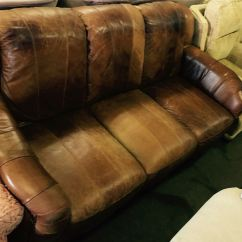Leather Sofa Brown Dfs Wine For Sale In Uk View 132 Bargains
