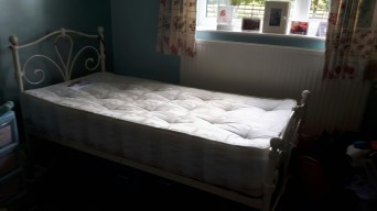 Cream Coloured Single Bed Perfect For Most Colour Schemes This Is Less Than 2yrs Old Having Been Used By Our Daughter It In Condition And