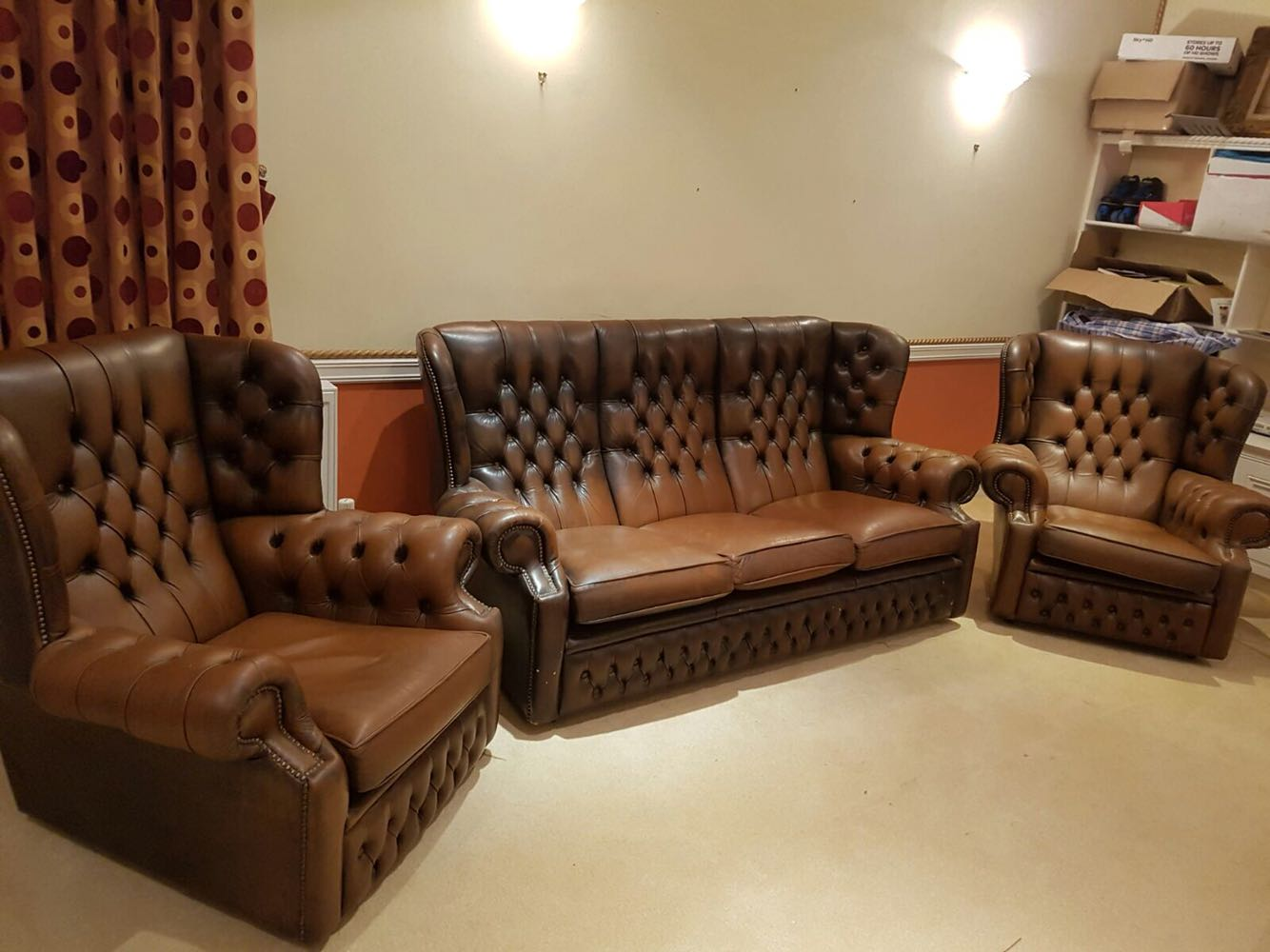 chesterfield leather sofa for sale milo baughman circular vintage sofas in uk view 99 ads