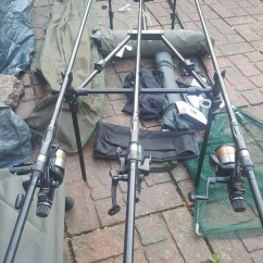 Fishing Chair Setup Invacare Geri Parts Ultimate Carp Shimano 3 Vengeance Rods Reels And