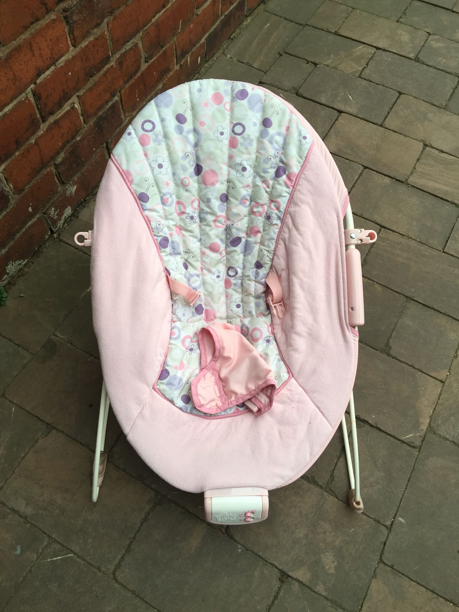baby chair that vibrates leather egg replica bouncer local classifieds in bolton greater manchester plays music and nature sounds has a buckle to strap them both my little girl boy were very happy here give you time have