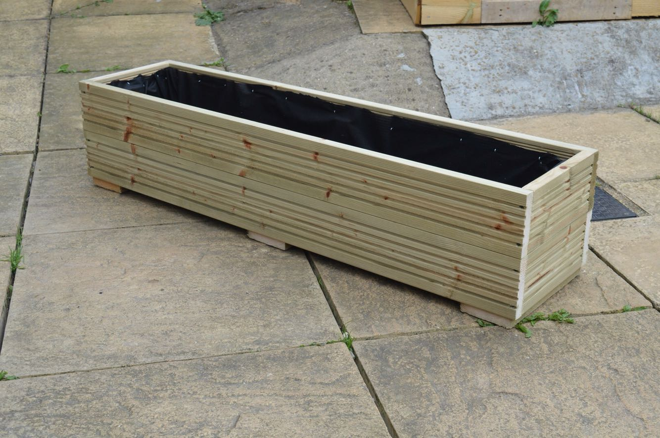 Wooden Trough Planter for sale in UK