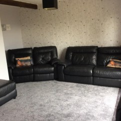 Sofaworks Barrow Small Sofa Set Olx Leather Local Classifieds For Sale In Northamptonshire Black Large Is Manual Recliner Smaller Electric But Has Come Off The Runner So Will Need Looking At Comes With Matching Puffy