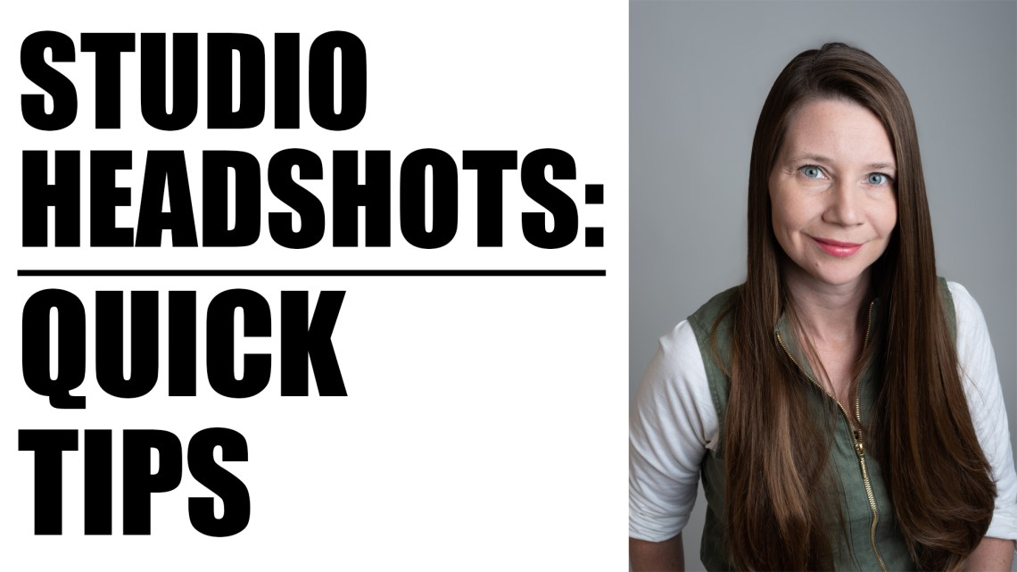 How To Shoot Studio Headshots Tutorial