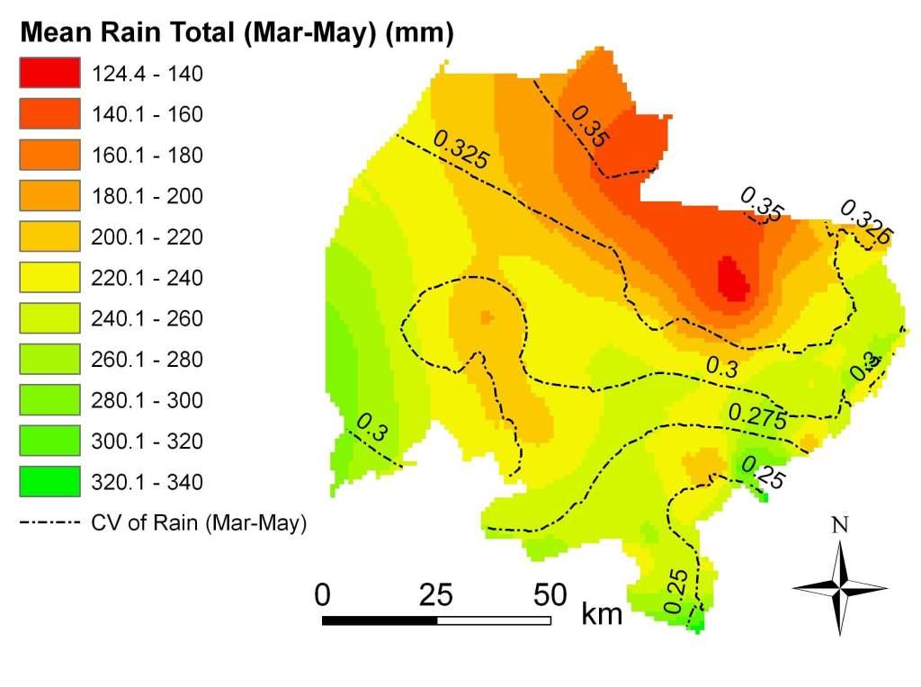 Rain total Mar-May 1960-2002