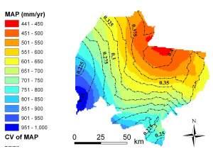 Rainfall over Laikipia, 1960-2002