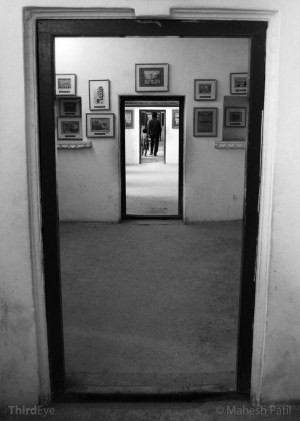 One of the many corridors inside the palace