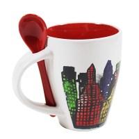 NYC Skyline Mug with Spoon - MPBshop