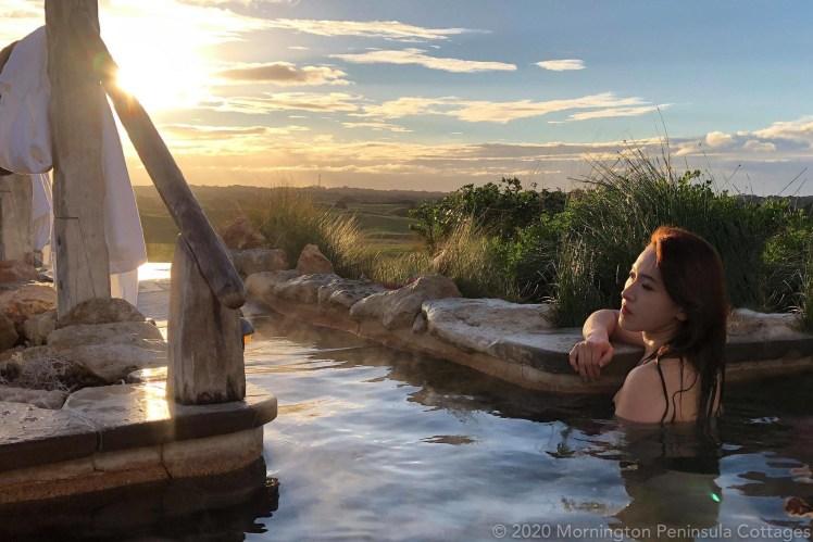 Bathing at the Peninsula Hot Springs