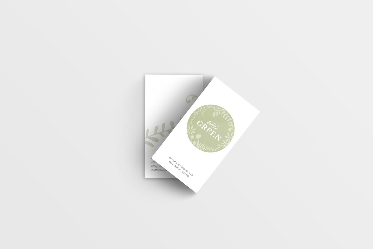 Little Green business card