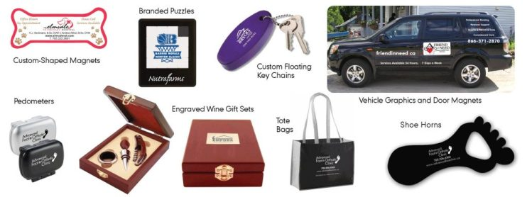 Business Promotional Items with custom logos