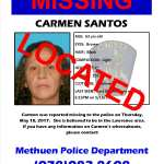 UPDATE: Carmen Santos Has Been Located