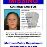 MISSING : CARMEN SANTOS