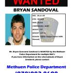 UPDATE! NO LONGER WANTED! Bryan Sandoval