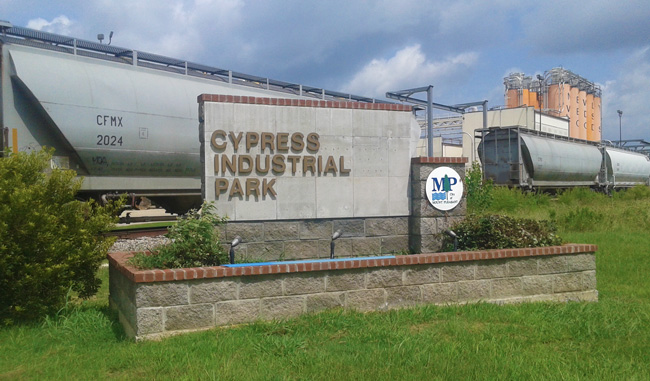 Cypress Industrial Park sign