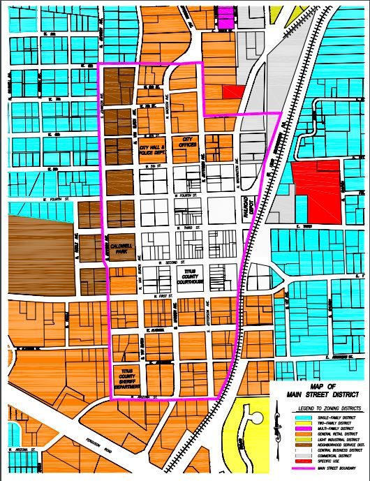 Main Street layout