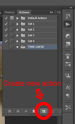 create new action