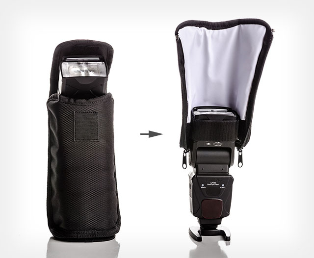 Now, the protection of your flash unit isn't just taking up space in your bag. It actually has another use.