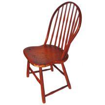 Fantastic 19thc Original Bittersweet Painted New England Windsor Chair $3,200