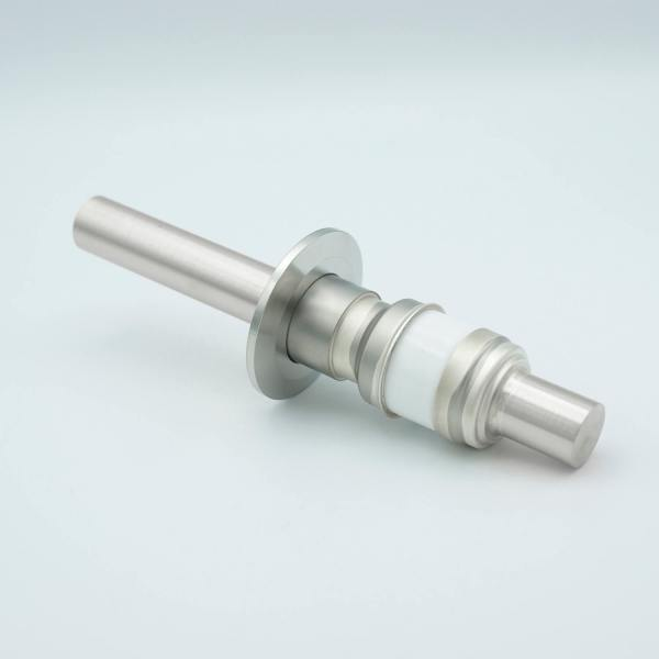 """Power Feedthrough, 8000 Volts, 250 Amps, 1 Pin, 0.75"""" Nickel Conductor, 2.16"""" QF / KF Flange"""