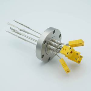 Thermocouple Feedthrough, Type K, 5 Pairs, Miniature Connectors, 2.75 Conflat Flange