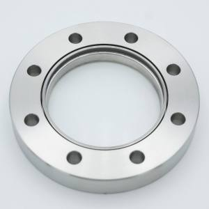 "UHV Viewport, DUV Grade (Laser) Fused Silica Viewport, Zero Length Profile, 2.69"" View Dia, 4.50"" Conflat Flange"
