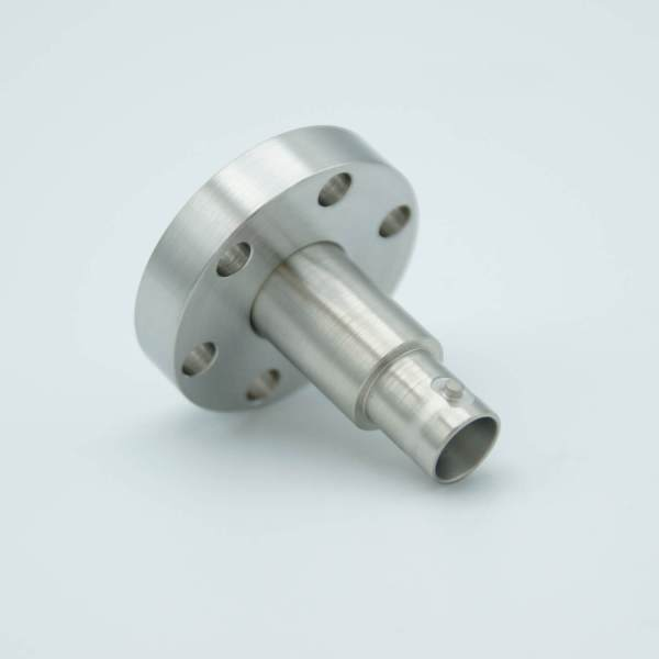"""MPF - A0238-2-CF MHV Coaxial Feedthrough, 1 Pin, Grounded Shield, 1.33"""" Conflat Flange, Without Air-side Connector"""