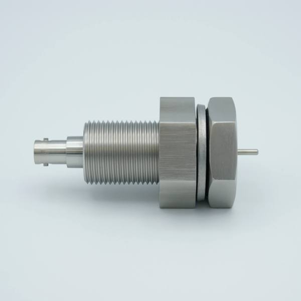 """MPF - A0482-6-BP SHV-5 Coaxial Feedthrough, 1 Pin, Grounded Shield, 1.0"""" Baseplate Bolt, Without Air-side Connector"""