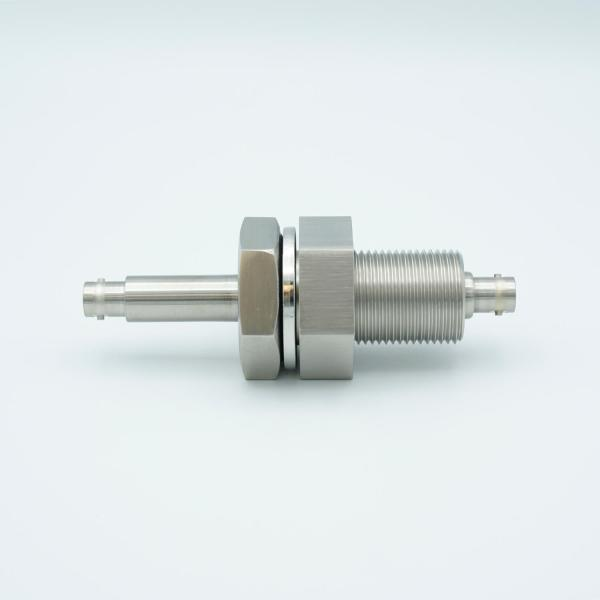 """MPF - A0484-1-BP BNC Coaxial Feedthrough, 1 Pin, Grounded Shield, Double-Ended, 1.0"""" Baseplate Bolt"""