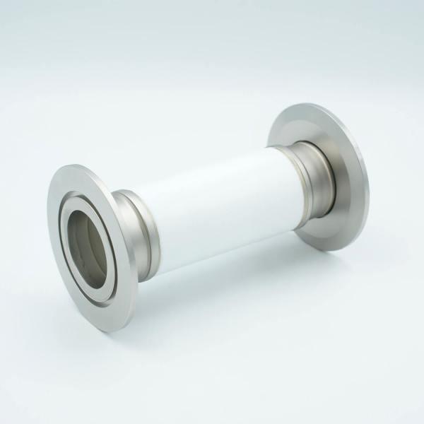 "MPF - A0597-6-QF Ceramic Break, 60KV Isolation, 1.37"" Inner Dia, 2.95"" QF / KF Flange"