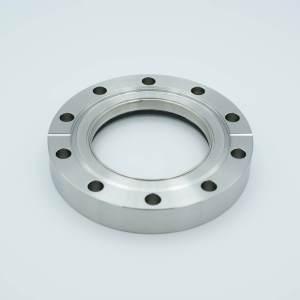 "UHV Viewport, DUV Grade (Laser) Fused Silica, Zero Length Profile, 2.69"" View Dia, 4.62"" Conflat Flange"