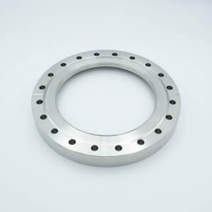"UHV VIewport, DUV Grade (Laser) Fused Silica, Zero Length Profile, 5.38"" View Dia, 8.00"" Conflat Flange"