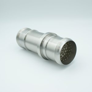 """MPF - A1091-1-W MS Series, Multipin Feedthrough, 35 Pins, 700 Volts, 10 Amps per Pin, Double-Ended w/ Air & Vacuum-side Connectors, 2.50"""" Dia Stainless Steel Weld Adapter"""