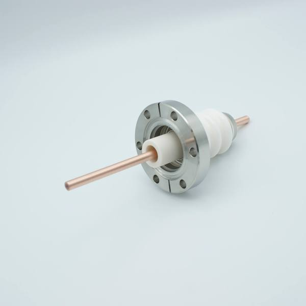 """MPF - A1158-1-CF Power Feedthrough, 20,000 Volts, 180 Amps, 1 Pin, 0.25"""" Copper Conductor, 2.75"""" Conflat Flange"""