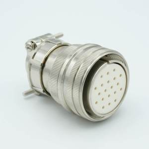 """MPF - A1177-1-CN MS Series Vacuum Side Connector, 10 Pair Thermocouple, Type K, Accepts 0.056"""" Dia. Pins"""