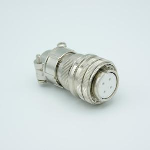 """MPF - A1182-1-CN MS Series Vacuum Side Connector, 2 Pair Thermocouple, Type K, Accepts 0.056"""" Dia. Pins"""