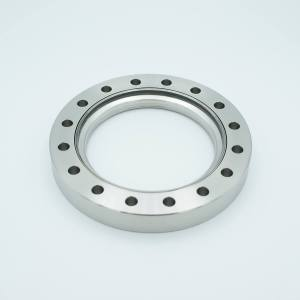 """UHV Viewport, UV Grade Fused Silica, Non-Magnetic, 3.88"""" View Dia, 6.00"""" Conflat Flange ( 316LN )"""