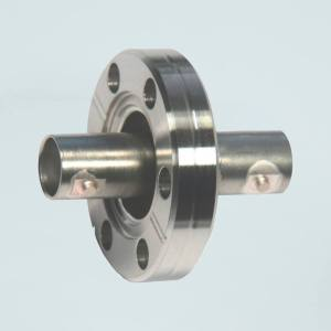 """MPF - A12380-1-CF BNC Coaxial Feedthrough, 50 Ohm Matched Impedance to 4 GHz, 1 Pin, Grounded Shield, Double-Ended, 1.33"""" Conflat Flange"""