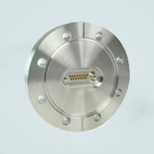 """MPF - A1557-2-CF Subminiature D-type Multipin Feedthrough, 15 Pins, 500 Volts, 5 Amps per Pin, 4.50"""" Conflat Flange"""