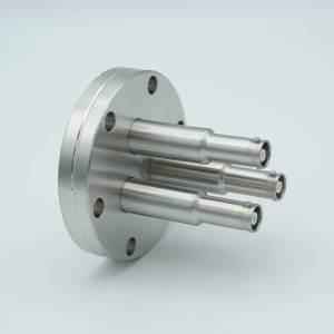 """MPF - A1600-4-CF SHV-10 Coaxial Feedthrough, 3 Pins, Grounded Shield, 2.75"""" Conflat Flange"""