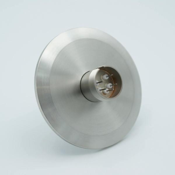 """Multipin Feedthrough, 5 Pins, 500 Volts, 3.5 Amps per Pin, 0.032"""" Dia Conductors, 2.95"""" QF / KF Flange"""