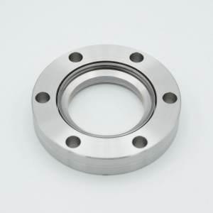 "UHV Viewport, MPF - A17424-1-CF All Titanium DUV Grade (Laser) Fused Silica, Zero Length Profile, 1.40"" View Dia, 2.75"" Conflat Flange"