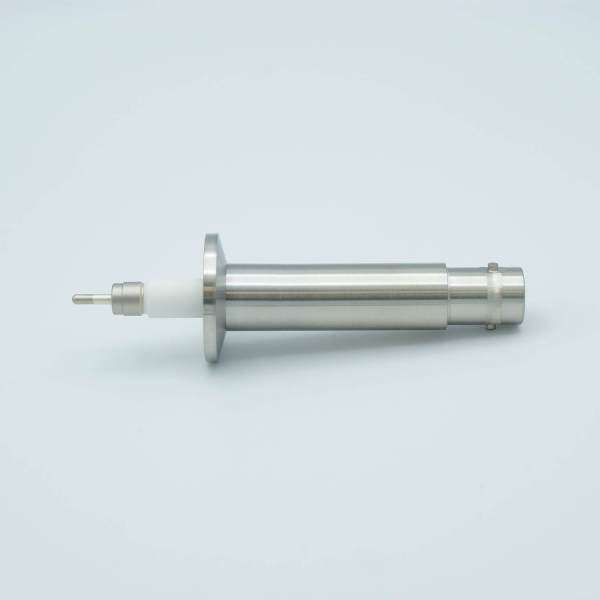 """MPF -A2094-1-QF SHV-20 Coaxial Feedthrough, 1 Pin, Grounded Shield, Exposed Insulator, 1.18"""" QuickFlange"""