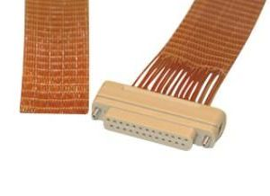"""Subminiature D-type Connector/Cable, 25 Pins, In-Vacuum, Peek Connector w/ Kapton Wire, 39"""" Length, Female Pins"""