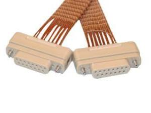 """Subminiature D-type Connector/Connector, 15 Pins, In-Vacuum, Peek Connectors w/ Kapton Wire, 19"""" Length, Female Pins"""