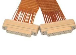 """Subminiature D-type Connector/Connector, 25 Pins, In-Vacuum, Peek Connectors w/ Kapton Wire, 19"""" Length, Female Pins"""