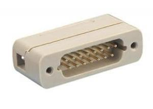 Subminiature D-type Connector, 15 Pins, In-Vacuum, Male Pins